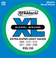 D-Addario EXL-130 струны для электрогитары, Extra Super Light, никель, 8-38